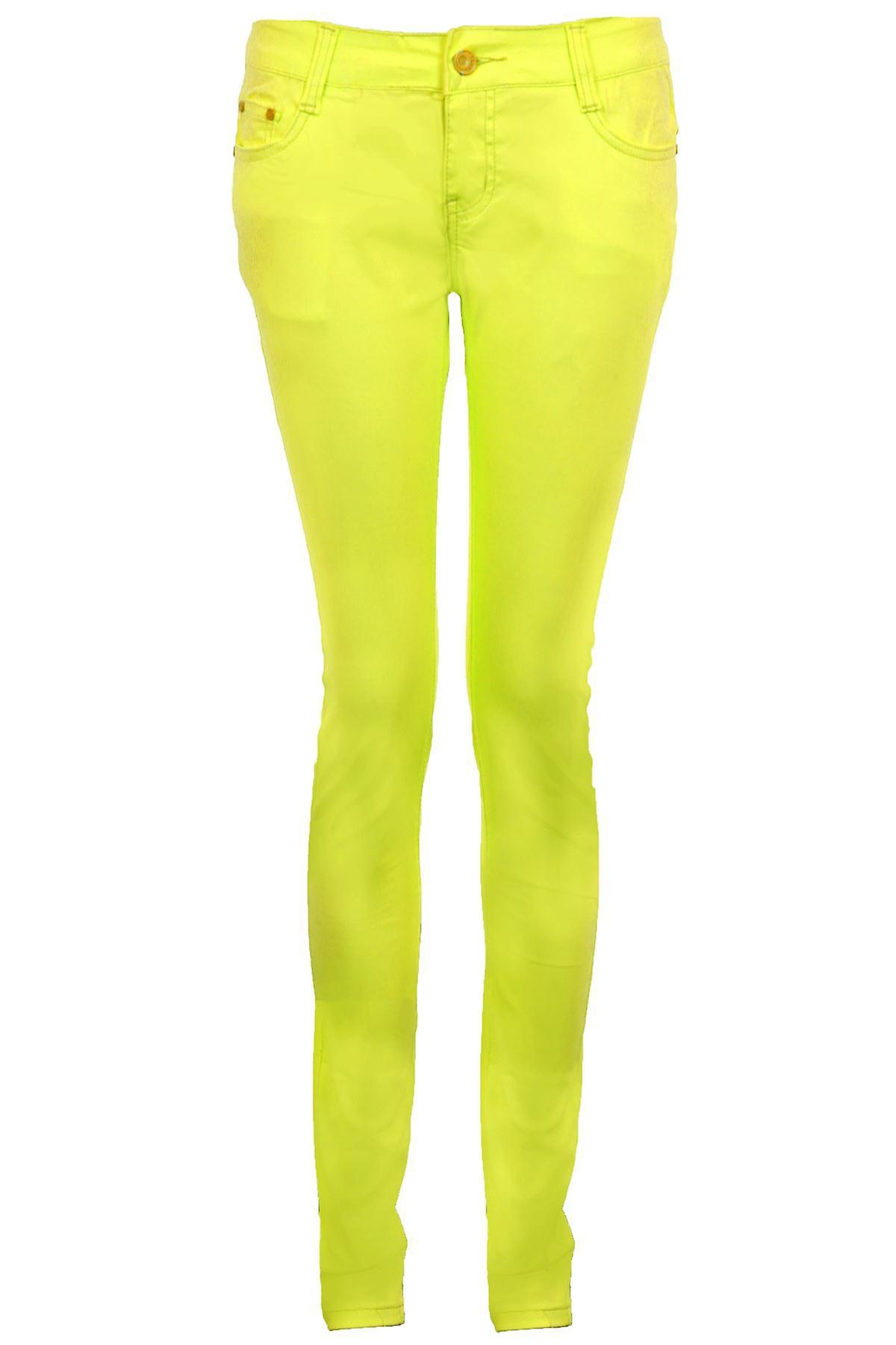 Hyvät fluoresoiva tavallinen ohut Skinny Fit naisten venyttää housut farkut jeggingsejä