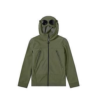 C.P. Company Undersixteen Sage Green Goggle Hood Soft Shell Jacket