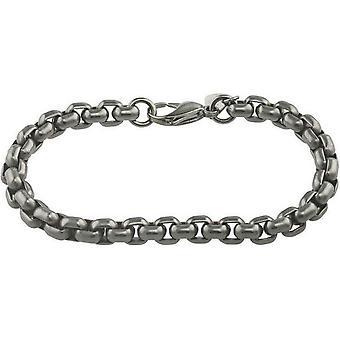 Ti2 Titanium Chunky Venetian Inka Bracelet - Silver
