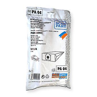 Teil PA04 Staubbeutel Panasonic 5stuks Scannen