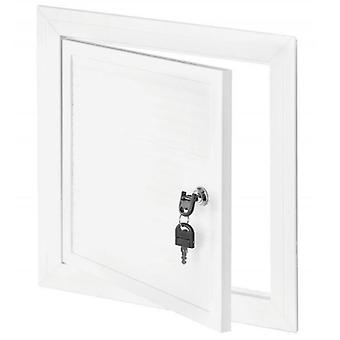 White PVC Chamber Cover Inspection Hatch Door Access Panel Grille with Key Lock
