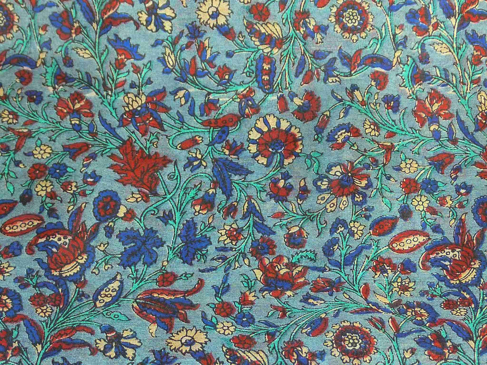 Mulberry Silk Traditional Square Scarf Affya Blue by Pashmina & Silk