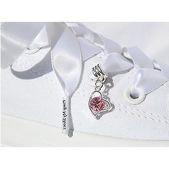Dangle Heart Shoe Charm