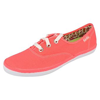 Mesdames Keds Lace Up Neon Rookie