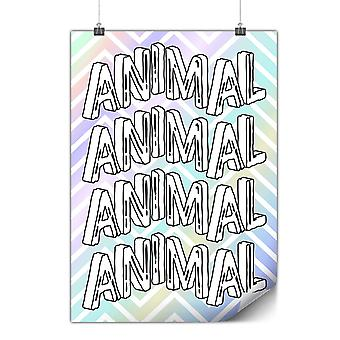 Matte or Glossy Poster with Motivation Beast Animal | Wellcoda | *y672