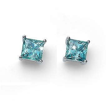 Earring Catch 925AG RH CZ mint