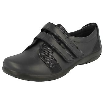 Mesdames Padders double raccord Extra Wide Fit Shoes verset