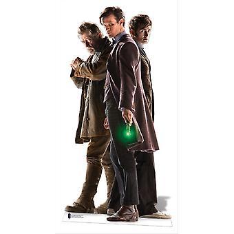Kolme lääkärit lifesize pahvi cutout / standee - lääkäri, joka 50-vuotisjuhlan special