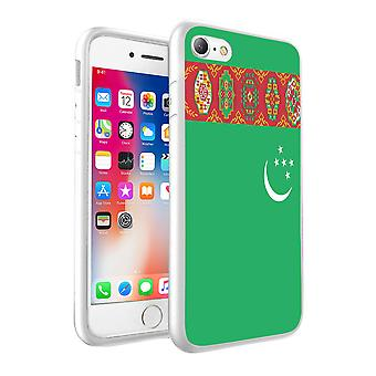 For Huawei Honor 9 - Turkmenistan Flag Design Printed White Case Skin Cover - 0182 by i-Tronixs