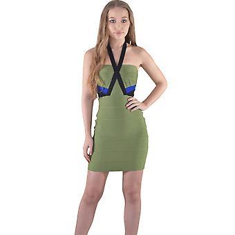 Lovemystyle korte Halterneck Bandage jurk In groen