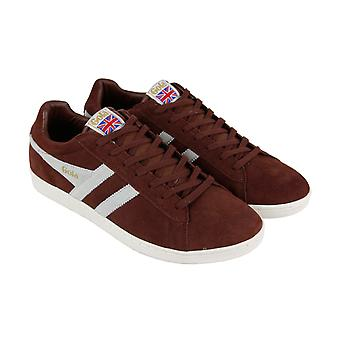 Gola Equipe  Mens Brown Suede Retro Low Top Lifestyle Sneakers Shoes