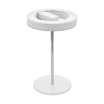 Eglo - Alvendre LED Touch bediende tafellamp In wit en gepolijst chroom afwerking EG96658