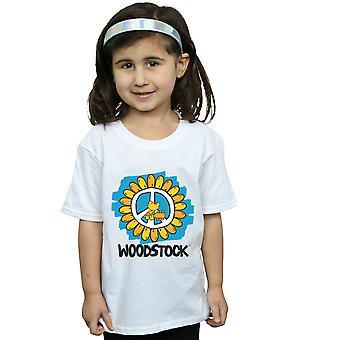 Woodstock Mädchen Blume Peace T-Shirt