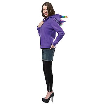 Hoodie Unicorn Purple Teen