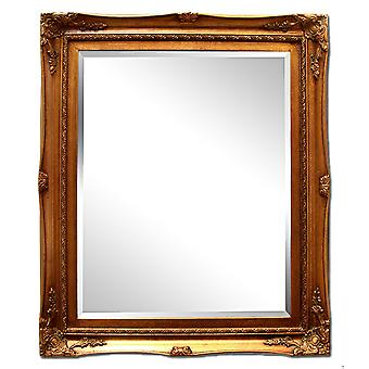 الأبعاد الخارجية 32x37 سم، مرآة في الذهب