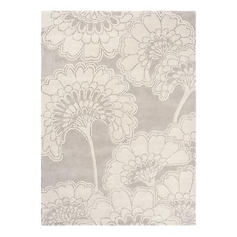 Japanese Floral Rugs 039701 In Oyster By Florence Broadhurst