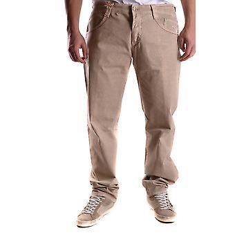 Carlo Chionna Ezbc251004 Men's Beige Denim Jeans