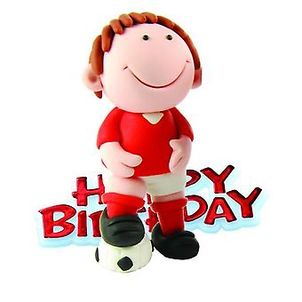Creative Football Player Design Birthday Party Cake Topper
