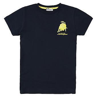 Lamborghini Kids Automobili Lamborghini Bull T-Shirt,Blue