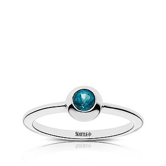 Seattle Mariners Topaz ring i Sterling Silver design av BIXLER