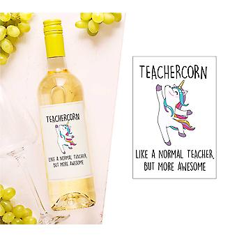 Teachercorn Wein Flasche Label