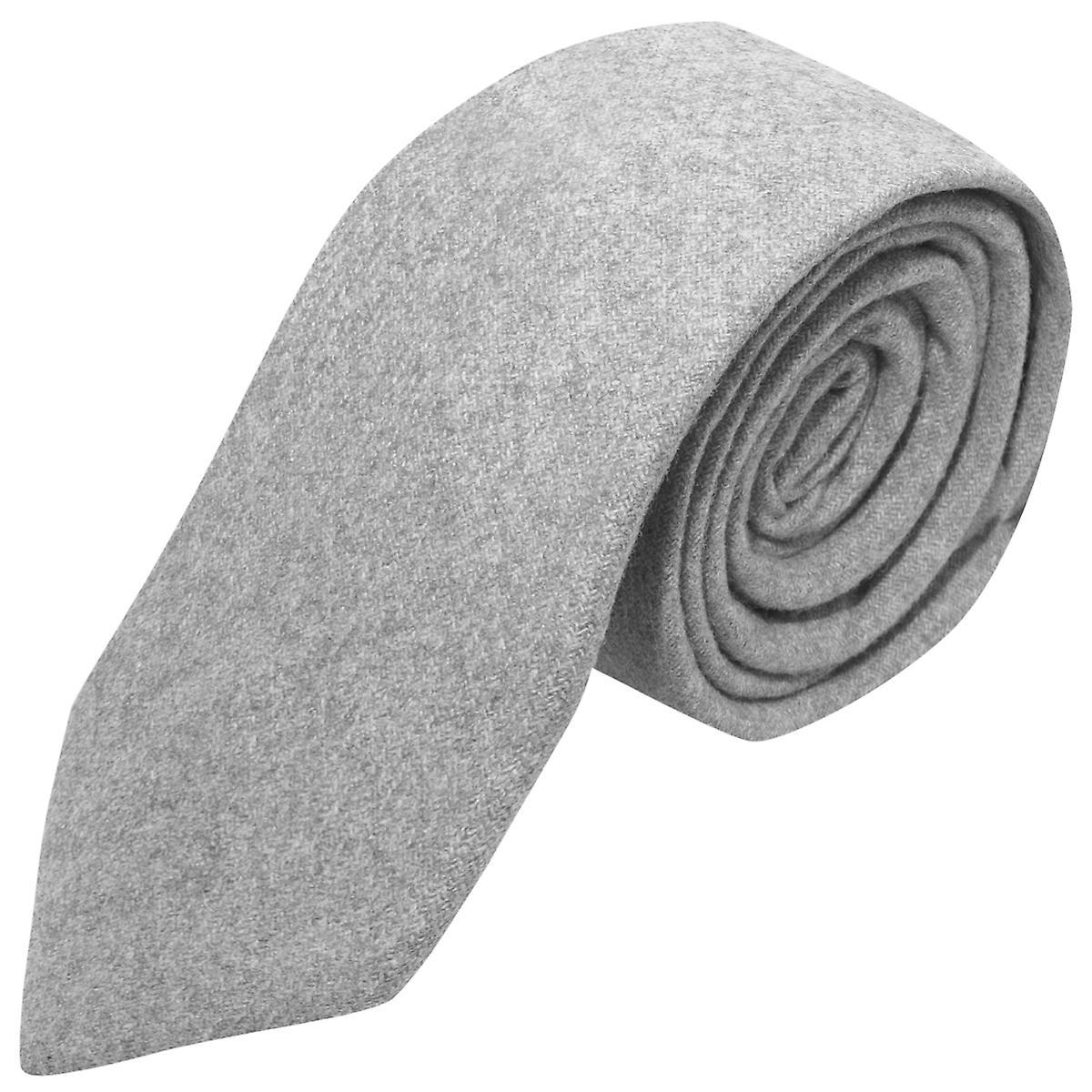 Stonewashed Medium Grey Tie, Necktie