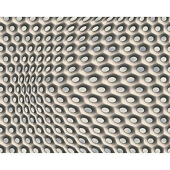A.S. Creation AS Creazione Geometric mesh Pattern Wallpaper Abstract 3D Web Circle Textured 327073