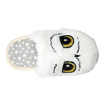 Harry Potter Hedwig Girls Hertali Open Back Slippers UK Sizes Child 10-3