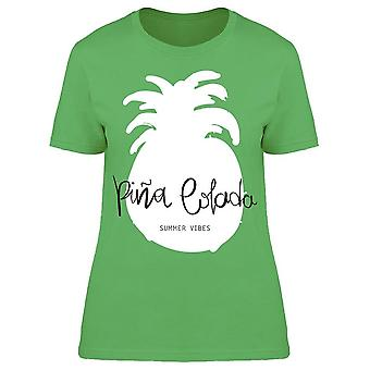 Pina Colada Hand Lettering Tee Women's -Image by Shutterstock