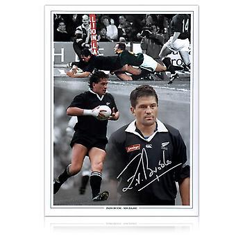Zinzan Brooke ondertekend Nieuw-Zeelandse All Blacks Rugby foto