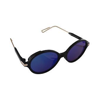 Sunglasses UV 400 Oval Black Donkerblauw1874_3