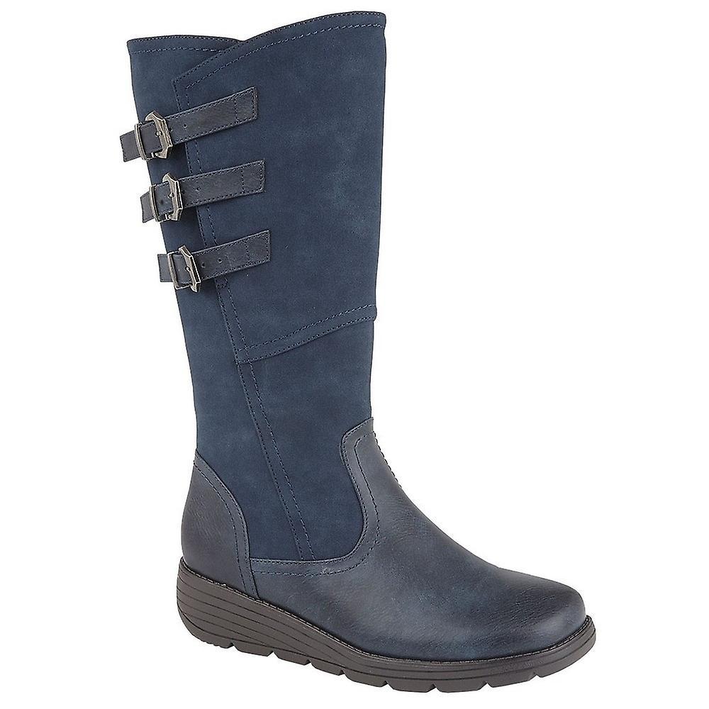 Cipriata Womens/Ladies Italiana PU Leather Triple Buckle High Leg Boot