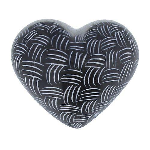 Black and White Mercury Heart Design B