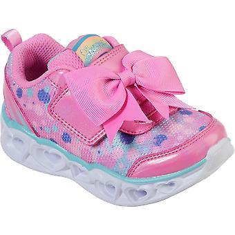 Skechers Girls Heart Lights-Sparkle Sparks Fashion Shoes