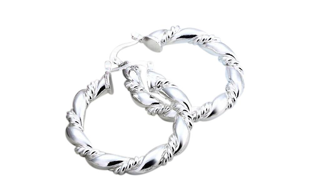 Silver Plated Creole Fashion Hoops
