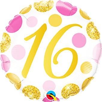 Qualatex 18 Inch Birthday Age Dots Round Foil Balloon