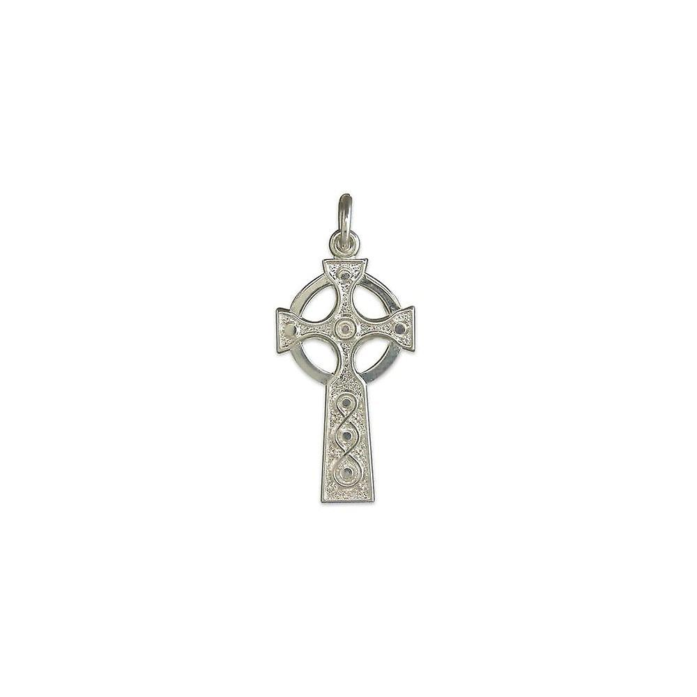 Eternity Sterling Silver Celtic Cross Pendant And 18'' Chain