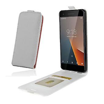 Sony Xperia Z5 - DeLuxe nahkakotelo mobiili lompakko - valkoinen