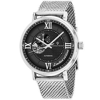 Christian Van Sant Men-apos;s Somptueuse LTD Black Dial Watch - CV1142