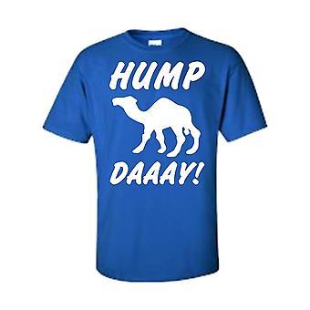 Miehet ' s Funny White mikä päivä se on? Hump päivä! Camel Sand T-paita