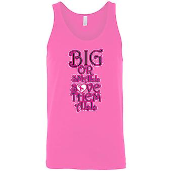 Men's Tank Top Breast Cancer Awareness Big or Small Save Them All