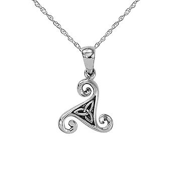 Celtic Ancient Triskele Holy Trinity Knot Necklace Pendant -apos;Aela 'apos; - Inclut A 16'quot; Silver Chain