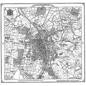 Macclesfield 1870 kartta (Heritage Cartography Victorian Town Map Series)