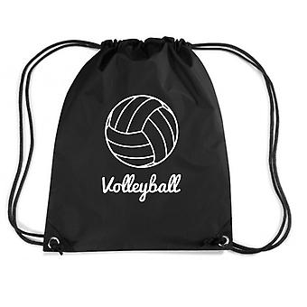 Black backpack dec0355 volleyball volleyball volleyball ball