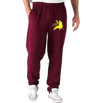 Pantaloni tuta rosso fun3268 rasta reggae lion