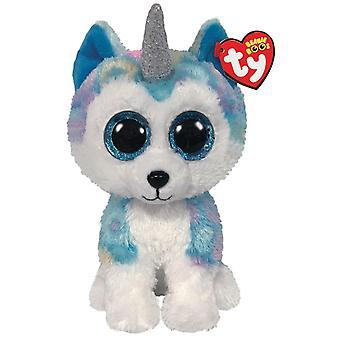 TY 36458 Helena Husky met hoorn medium Boo zacht stuk speelgoed