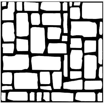 Woodware 6in x 6in stencil Flagstones