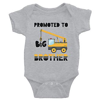 Befordrad till Big Brother Baby Body gift Grey för baby shower