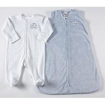 ヘイロー Sleepsack ウェアラブル毛布/カバーオール ブルー犬の 6-9 ヶ月
