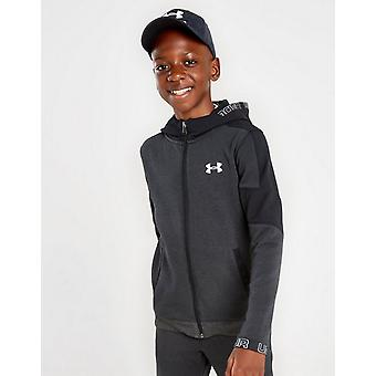 New Under Armour Pro Full Zip Fleece Hoodie Junior Black